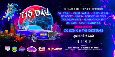"""The Official """"713 Day"""" Celebration Ft. Lil Keke, Paul Wall, & Slim Thug! tickets"""