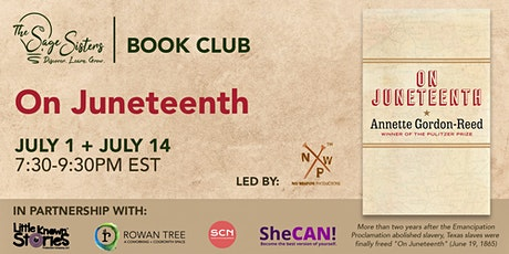 Book Club Discussion: On Juneteenth, Annette Gordon-Reed tickets