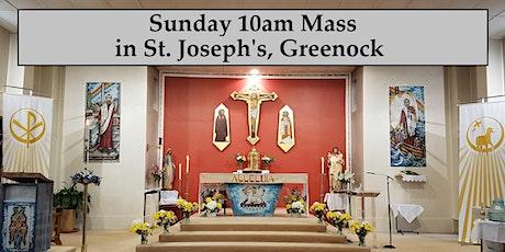 Sunday 10am Masses in St. Joseph's, Greenock, 2021 tickets