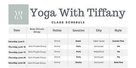 Yoga in the Park w/ Tiffany tickets