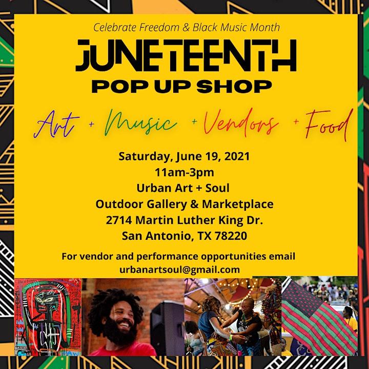 JUNETEENTH POP UP SHOP - Celebrate Freedom  & Black Music Month image