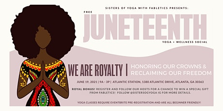 Sisters of Yoga Juneteenth Wellness Social In Partnership with Fabletics tickets