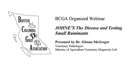 JOHNE'S:  The Disease and  Testing  Small Ruminants tickets