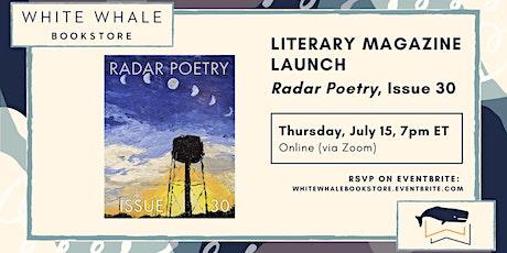 Literary Magazine Launch! Issue 30, Radar Poetry tickets