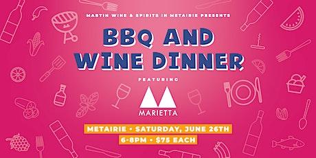 BBQ and Wine Dinner Featuring Marietta Cellars tickets