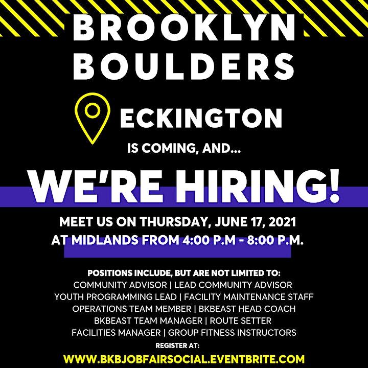 Brooklyn Boulders Job Fair Social image
