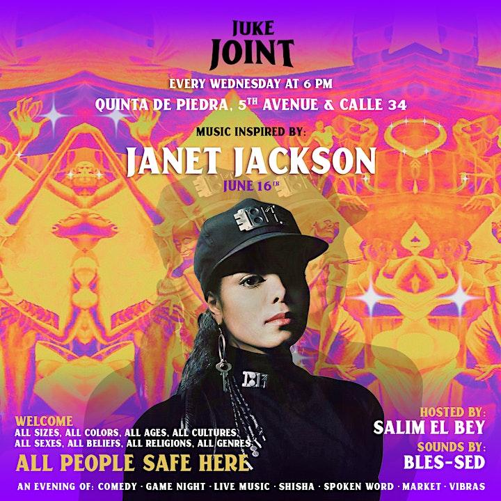 Juke Joint Wednesdays!  Live Performances + Games + Baile + Shisha + Vibes image