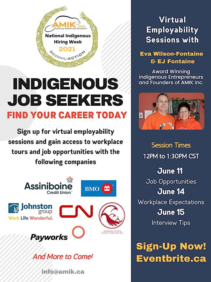 Online Employability Workshops (June 11, 14, 15) image