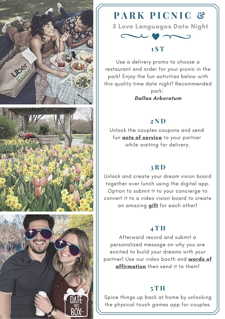 Pop-Up Picnic in the Park Couple Date Night+ 5 Love Languages (Self-Guided) image