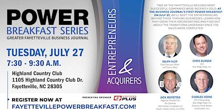 Power Breakfast Series - Entrepreneurs & Acquirers tickets