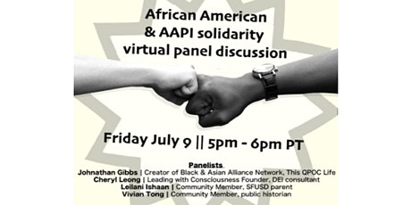 African American & AAPI Solidarity Panel Discussion tickets