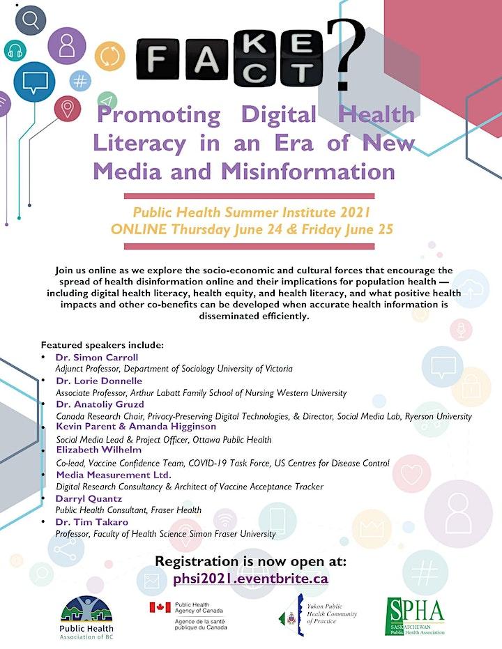 Public Health Summer Institute 2021: Fake or Fact? image