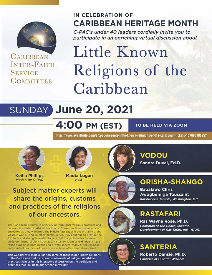 """CPAC Presents """"Little Known Religions of the Caribbean"""" image"""