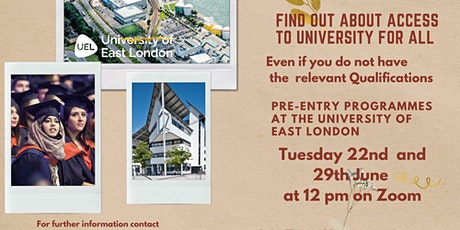 ACCESS TO UNIVERSITY  Pre-Entry Programmes at the University of East London tickets