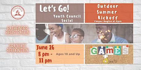 Youth Council Social - Summer 2021 Kickoff tickets