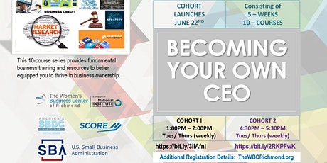 (Cohort #1) Becoming Your Own Chief Executive Officer tickets