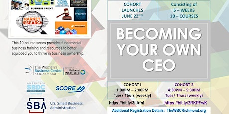 (Cohort #2) Becoming Your Own Chief Executive Officer tickets