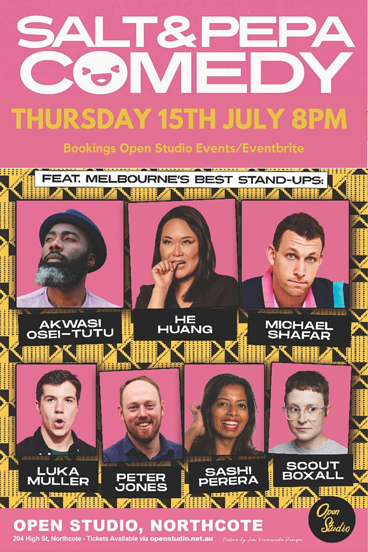 SALT AND PEPPER COMEDY NIGHT - Ticketed event image