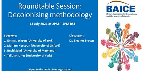 Roundtable Session:  Decolonising methodology tickets