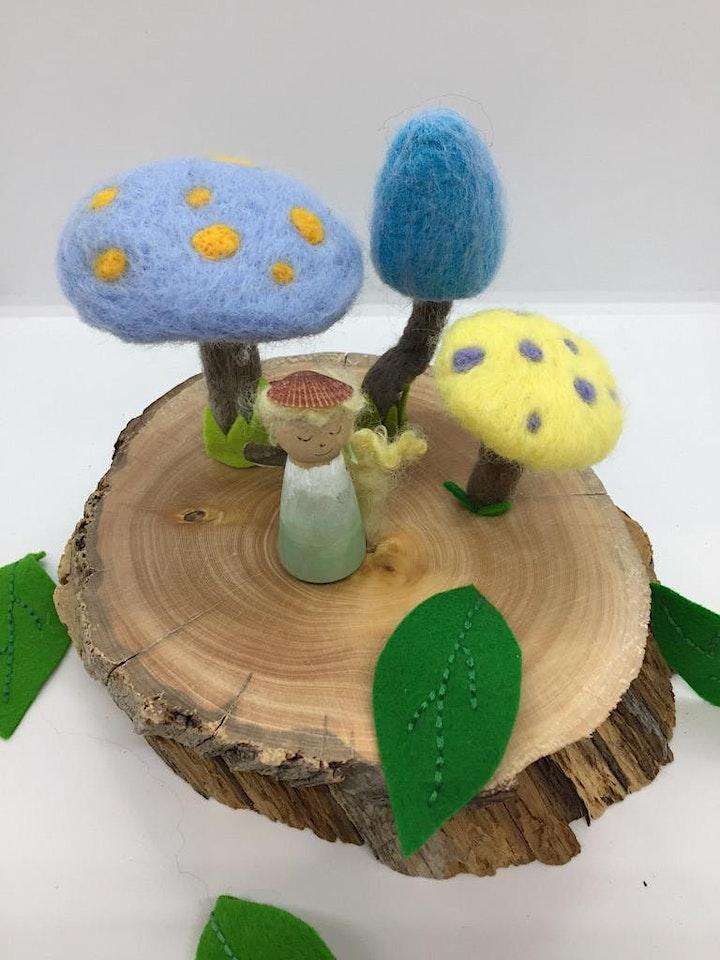 Family Needle Felting Workshop - Huon Pine Fairy/Elf Garden image