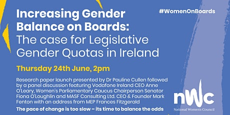 Increasing Gender Balance on Boards: The Case for Legislative Quotas tickets