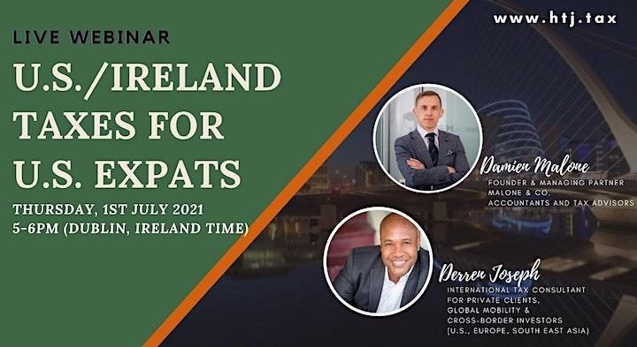 Webinar on U.S./ Ireland Taxes for Expats ( Dublin, Ireland Time) image