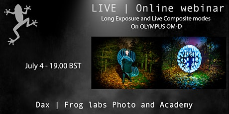 Live Composite and Long Exposure modes  on Olympus - Dax Smith tickets