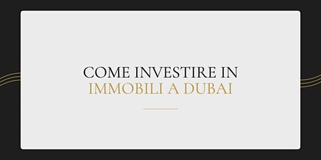 Come investire in immobili a Dubai biglietti