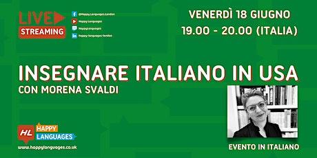Insegnare Italiano in USA entradas