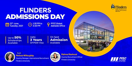 Flinders University Admissions Day tickets
