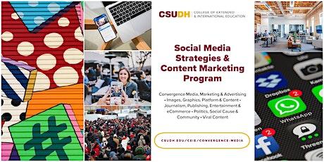 Info Session: Social Media Strategies Program | CSUDH Webinar (8/28/21) tickets