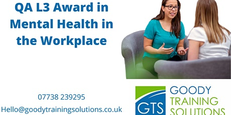QA L3 Award in Mental Health First Aid in the Workplace tickets