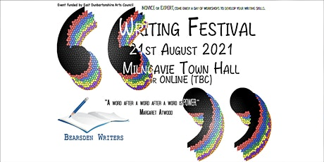 Bearsden & Milngavie Community Writing Festival tickets