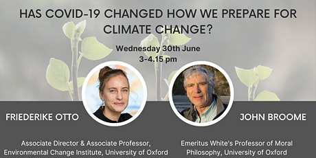 Has COVID-19 Changed How We Prepare for Climate Change tickets