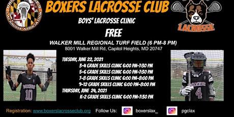 Free Boys Lacrosse Clinic tickets