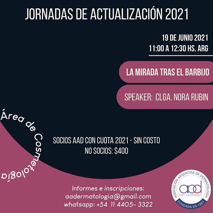 Imagen de MASTER CLASS LA MIRADA TRAS EL BARBIJO ACTUALIZACIÓN COSMETOLOGÍA A.A.D