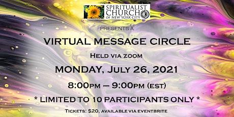 SCNYC Virtual Message Circle- Rev. Eugene Grygo &  Dr. Avril Brenig tickets