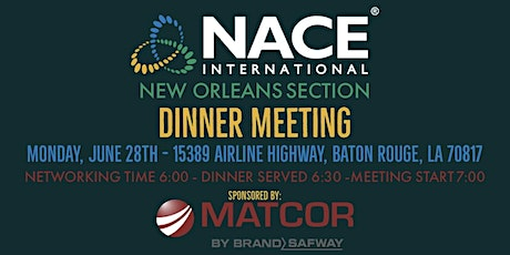 NACE New Orleans Section - Dinner Meeting tickets