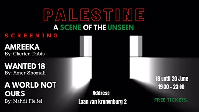 PALESTINE: A SCENE OF THE UNSEEN tickets