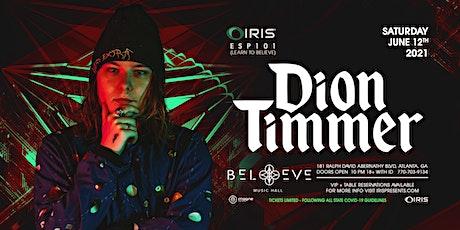 Dion Timmer | IRIS ESP101| Saturday, June 12th tickets