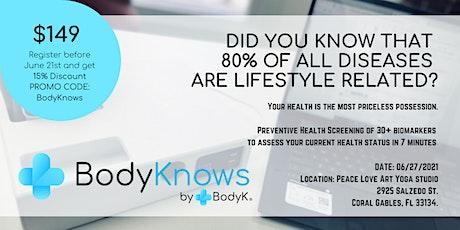 BodyKnows Preventive Health Screenings tickets