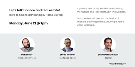 Let's talk finance & real estate | Intro to Financial Planning & Homebuying tickets