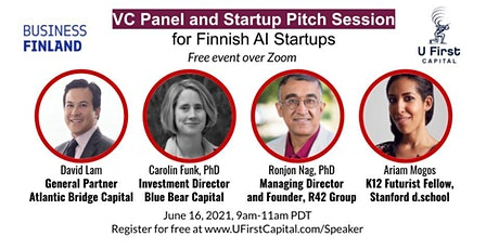 VC Panel and Startup Pitch Session for Finnish AI Startups tickets