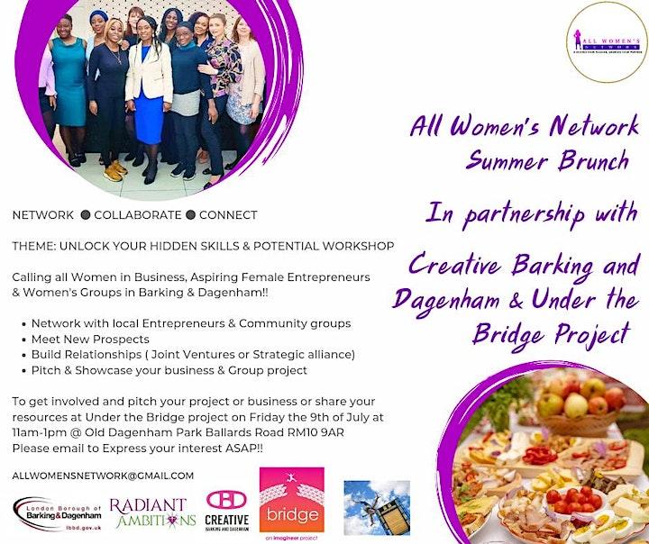 All Women's Network  Summer Brunch Under the Bridge image