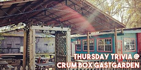 Trivia with Hank LIVE at Crum Box Gastgarden tickets