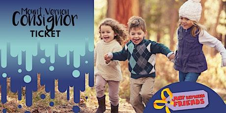 Just Between Friends Mount Vernon Fall 2021• CONSIGNOR TICKET tickets