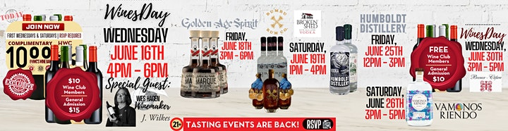 Brewer Clifton Wine Event at Holiday Wine Cellar   FREE for WCM's    $10 GA image