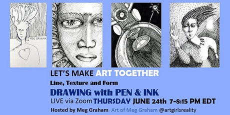 LET'S MAKE ART TOGETHER / Playing with Line Texture and Form 6_24_21 tickets