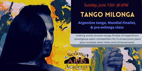 Argentine tango performance and pre-milonga class event w/ wine and cheese tickets