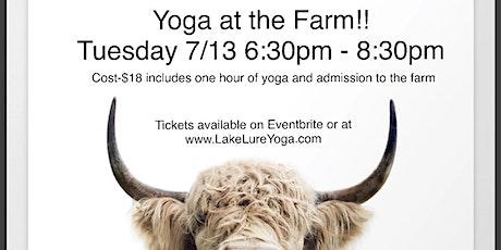 Yoga at the Farm tickets